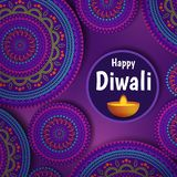 Illustration on the theme of the holiday diwali. Vector Illustration on the theme of the holiday diwali. Deepavali light and fire festival. Vector background of royalty free illustration