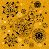 India ornament background. Paisley seamless Stock Photography