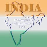 India_outline royaltyfri illustrationer