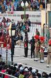 The India-Pakistan Wagah Border Closing Ceremony Stock Image