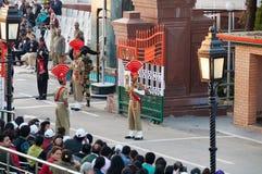 The India-Pakistan Wagah Border Closing Ceremony Stock Photography