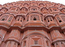 India - Palace of the winds (2). Front exterior of the Harem, Palace of the winds, Jaipur, Northern India stock photos