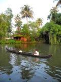 India Palm tropisch bos in binnenwaterenbestemmingen van KE Royalty-vrije Stock Foto's