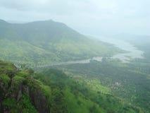 India Panchgani tamy rzeki widok fotografia stock