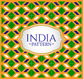 India pattern - Background texture and emblem with the colors of the flag of India Stock Image