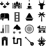 India pictograms Royalty Free Stock Photos