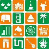India pictograms Royalty Free Stock Image