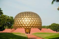 India - Pondicherry. The Matrimandir at Auroville in Pondicherry (Puducherry) in South India Stock Image