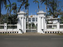 india Pondicherry Husregulatorfransman Indien royaltyfri bild