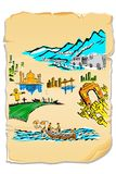 India in Postcard Stock Image