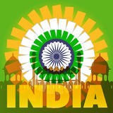 India Poster Concept. Vector EPS10. India Poster Rise Concept. Vector EPS 10 Stock Images