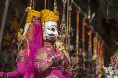 India puppet hanging Stock Photo