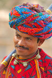 India, Rajasthan: Colourful turban Royalty Free Stock Photos
