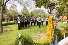 India, Rajasthan, Jaipur, 02 Maart, 2013: Indisch orkest op Ho Stock Afbeelding