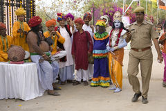 India, Rajasthan, Jaipur, March 02, 2013: Indian orchestra on Ho Stock Images