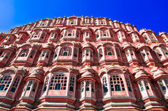 India. Rajasthan, Jaipur, Palace of Winds. (Hawa Mahal Stock Image