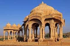 India, Rajasthan, Jaisalmer: Cenotaphs Royalty Free Stock Photo