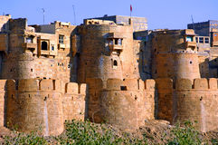 India, Rajasthan, Jaisalmer: the fort Royalty Free Stock Photo