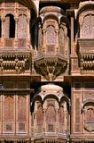 India, Rajasthan, Jaisalmer: Havali house Stock Photography