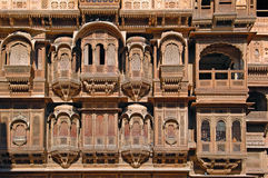 India, Rajasthan, Jaisalmer: Havali house Stock Images