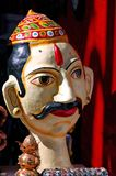 India, Rajasthan, Jaisalmer: Marionette. Traditional wooden figures representing men  in traditional suit Stock Photos