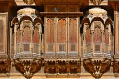 India, Rajasthan, Jaisalmer: Patwa haveli house Royalty Free Stock Photos