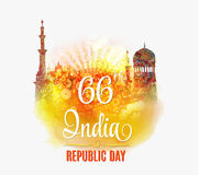 India Republic Day Background Vector illustration. Royalty Free Stock Photography