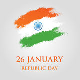 India Republic Day greeting card design vector illustration. 26 January. Stock Photos