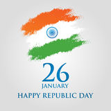 India Republic Day greeting card design vector illustration. 26 January. India Republic Day greeting card design vector illustration. 26 January - Republic day Stock Photo