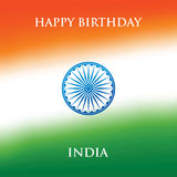 India Republic Day greeting card design vector illustration. 26 January. Stock Image