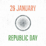 India republic day vintage label template. Retro typography concept. Vector illustration Stock Images