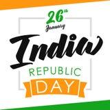 India republiki dnia świętowania sztandar na chorągwianych kolorach Zdjęcia Royalty Free