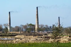 India's brick kilns Royalty Free Stock Image