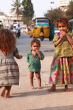 India's Children of Poverty. Picture of a young young children from the slums of India Royalty Free Stock Image