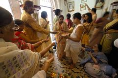 India's Clay Idols-Durga Festival Stock Photos