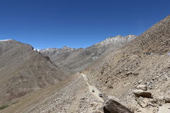 India`s Deadliest, very treacherous and adventurous roads roads. Himalaya mountains, India`s Deadliest, very treacherous and adventurous roads, Kargil-Leh Stock Photo