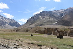India`s Deadliest, very treacherous and adventurous roads roads. Himalaya mountains, India`s Deadliest, very treacherous and adventurous roads, Kargil-Leh Stock Photography