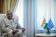 India ` s prezydenta baran Nath Kovind wizyta w Grecja Obrazy Stock