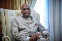 India ` s prezydenta baran Nath Kovind wizyta w Grecja obraz stock