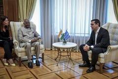 India ` s prezydenta baran Nath Kovind wizyta w Grecja Zdjęcie Royalty Free
