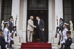 India ` s prezydenta baran Nath Kovind wizyta w Grecja Obrazy Royalty Free