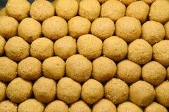 Indiańscy cukierki - Besan laddo Zdjęcie Royalty Free
