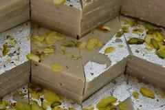 Indiańscy cukierki Kaju Katli Fotografia Royalty Free