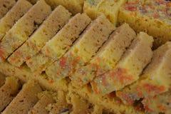 Indiańscy cukierki Mysore Pak Zdjęcie Stock
