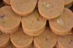Indiańscy cukierki Peda lub Pedha Zdjęcia Royalty Free