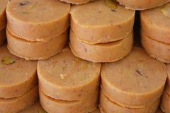 Indiańscy cukierki Peda lub Pedha Zdjęcia Stock