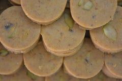 Indiańscy cukierki Peda lub Pedha Zdjęcie Royalty Free