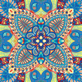 India seamless paisley kerchief pattern, decorative textile, wrapping, decor. Bohemian design Royalty Free Stock Photography
