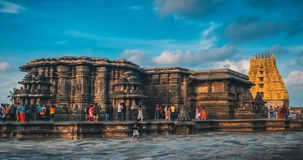 Beautiful view of Chennakesava temple in Belur stock images