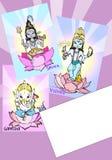 India series - Ganesh... Ganesh, Visnu, Shiva - for kids Stock Images